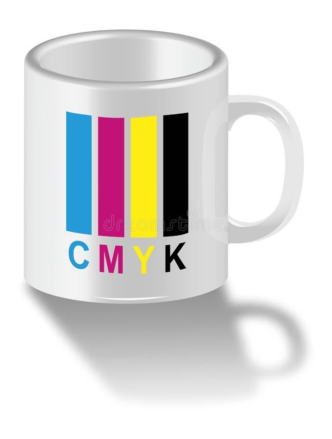 Cuvette de CMYK illustration stock