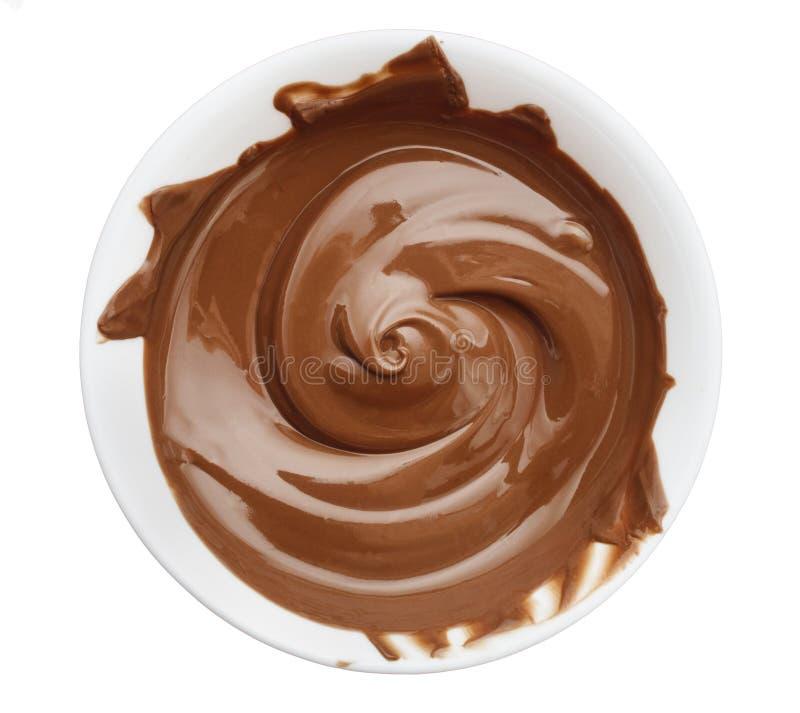 Cuvette de crème de chocolat photos stock