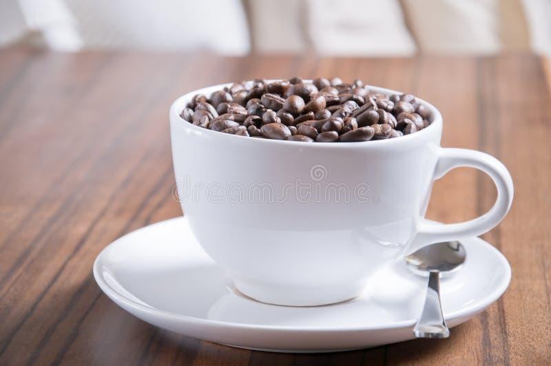 Cuvette de grains de café photo libre de droits
