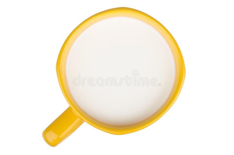 Cuvette de lait Vue supérieure image libre de droits