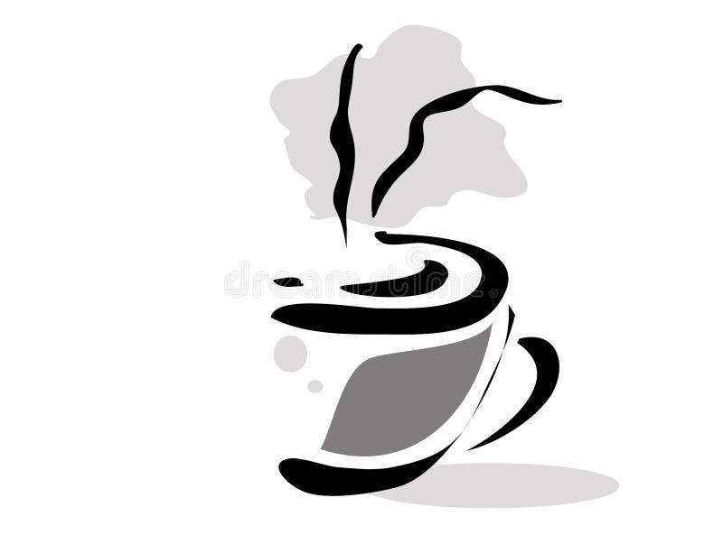 Cuvette de matin de café illustration libre de droits