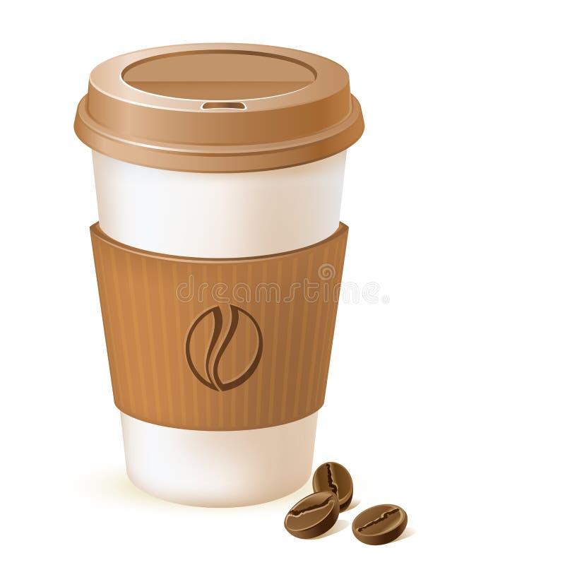 Cuvette de papier de café illustration libre de droits