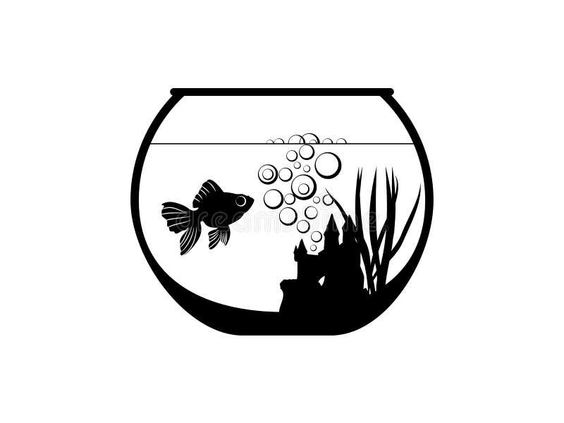 Cuvette de réservoir de poissons illustration de vecteur