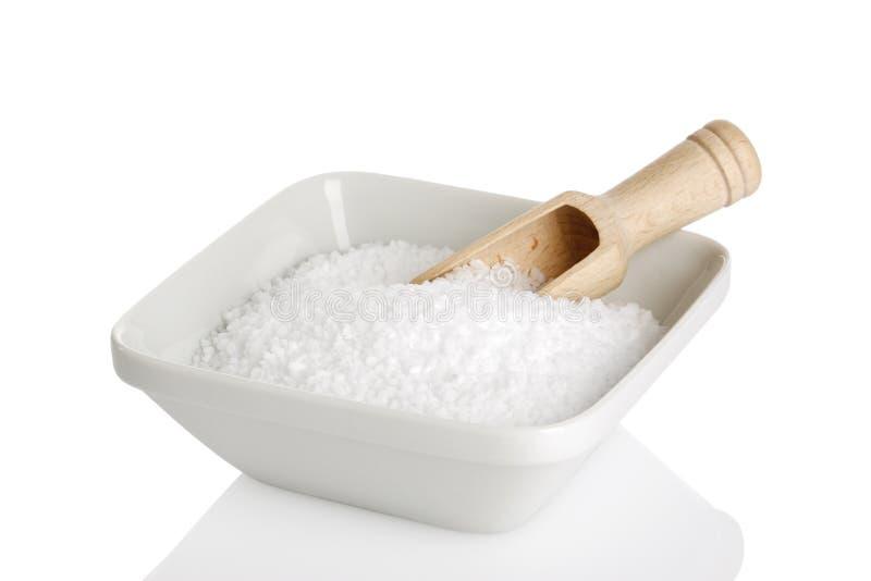 Cuvette de sel de mer photographie stock