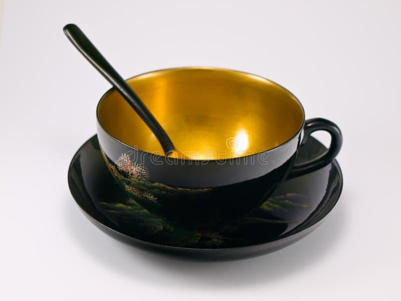 Cuvette de thé antique de la Chine images libres de droits