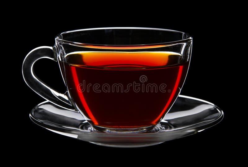 Cuvette de thé noir photographie stock