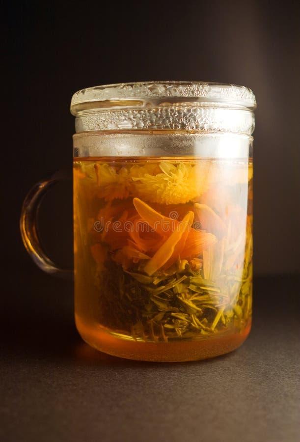 Cuvette de thé vert photo stock