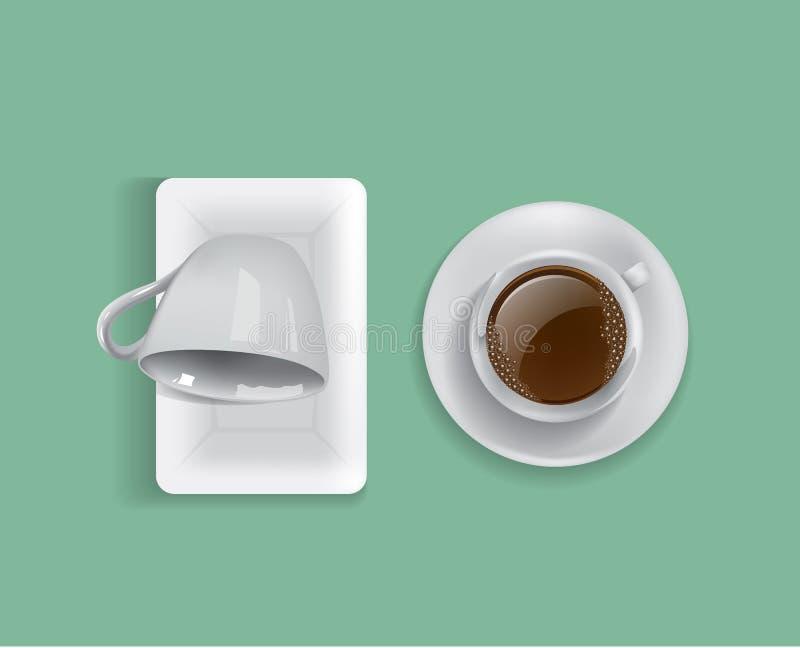 Cuvette de vecteur de café illustration libre de droits
