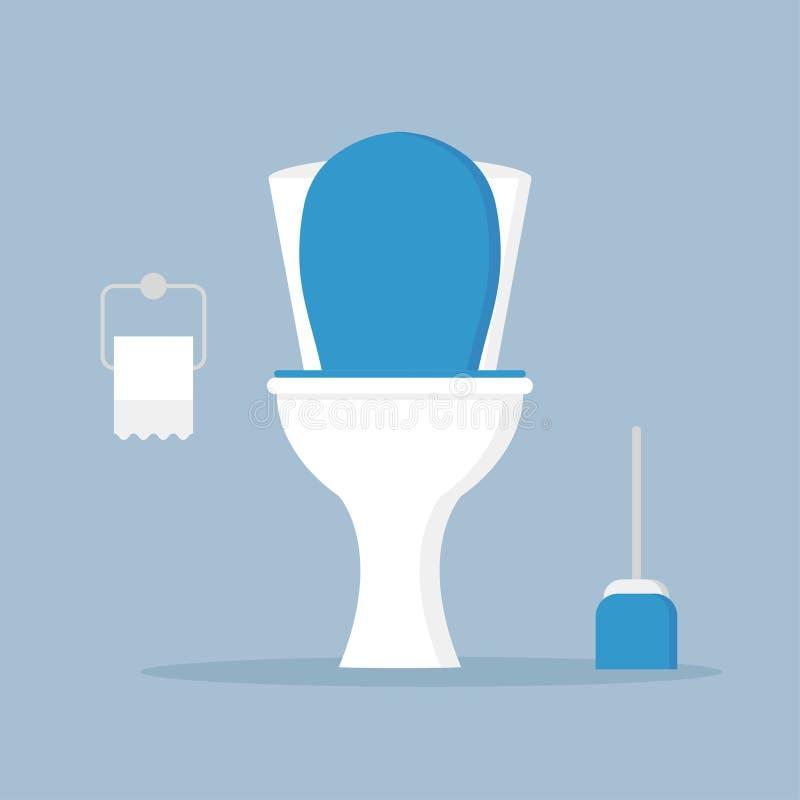 Cuvette des toilettes, siège 2 illustration de vecteur