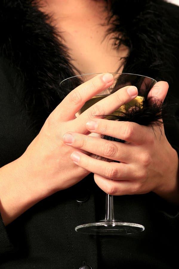 Cuvette en verre de Martini images libres de droits