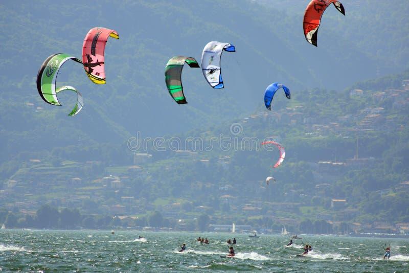 cuvette kiteboarding photo libre de droits