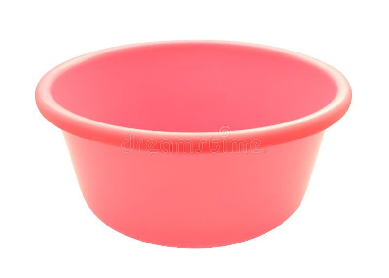 Cuvette ronde en plastique rose image stock