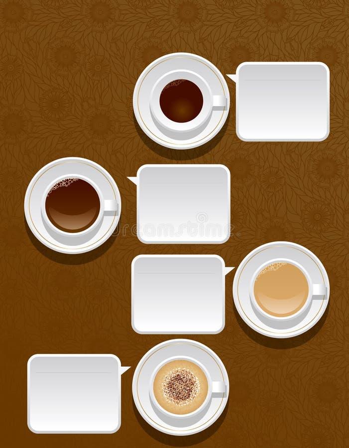 Cuvettes de café illustration de vecteur