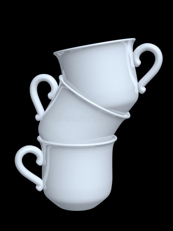 Cuvettes de café de porcelaine photos libres de droits