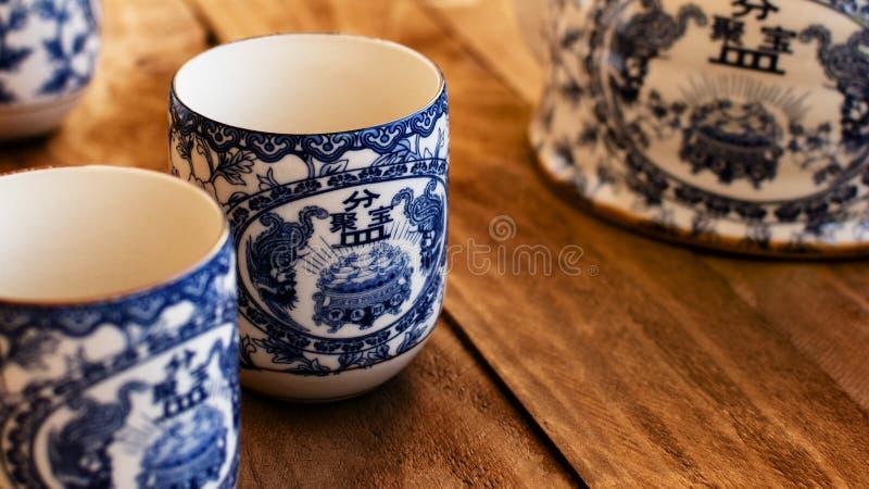 Cuvettes de thé chinoises photo libre de droits