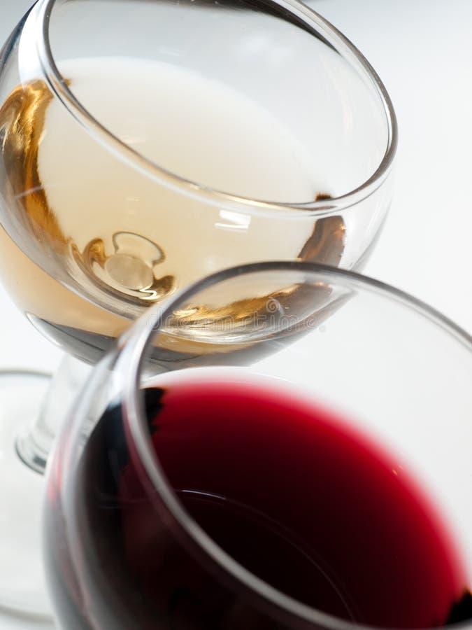 Cuvettes de vin photo stock