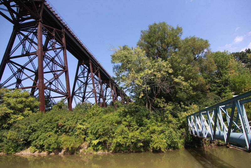 Cuyahoga dalnationalpark arkivfoto
