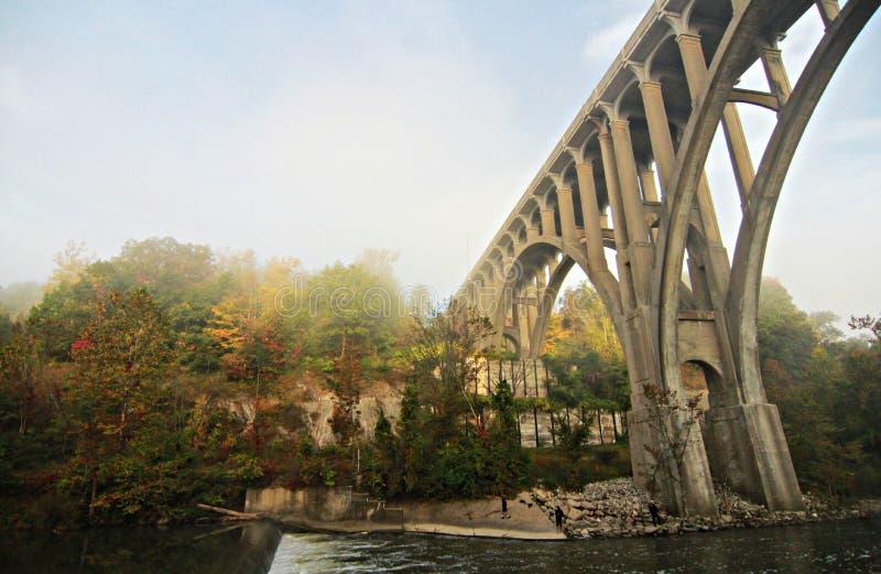 Cuyahoga-Tal-Nationalpark - Brücke - Ohio - CVNP lizenzfreie stockfotos