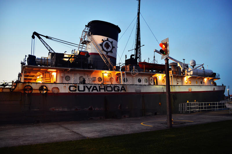 Cuyahogaschip die Soo Locks verlaten royalty-vrije stock afbeelding