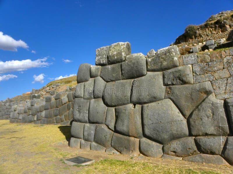 cuzco秘鲁破坏sacsayhuaman 免版税库存图片
