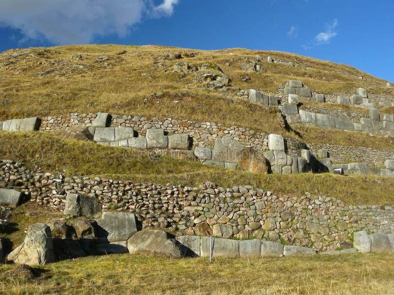 cuzco秘鲁破坏sacsayhuaman 库存照片