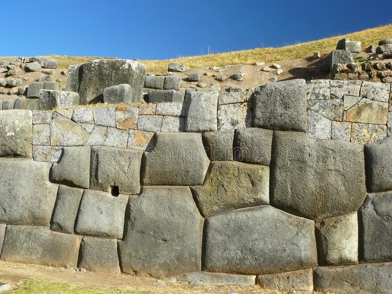 cuzco秘鲁破坏sacsayhuaman 库存图片
