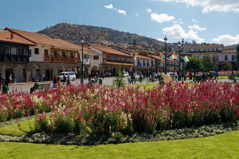 Cuzco - бывшая столица империи 5 Inca стоковое фото