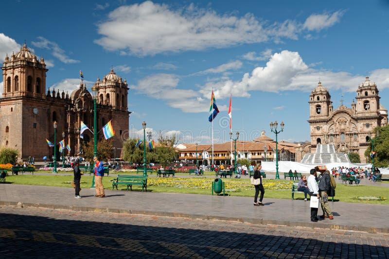 Cuzco - бывшая столица империи 7 Inca стоковое изображение