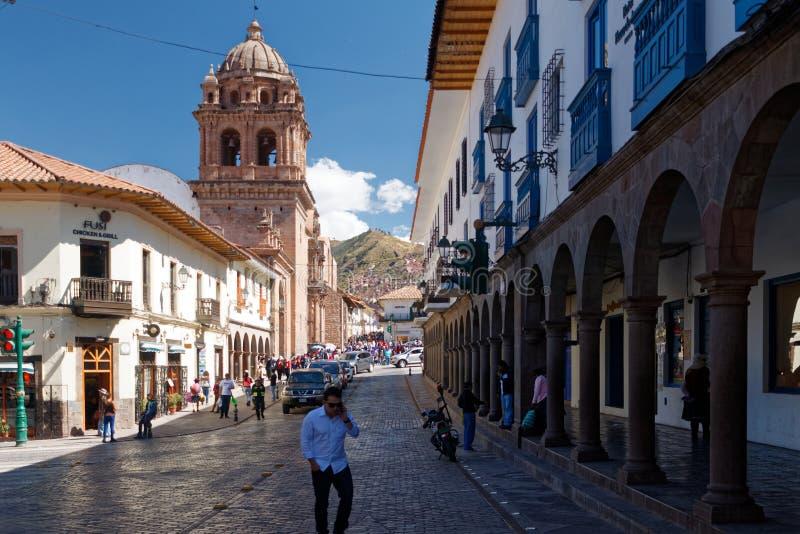Cuzco - бывшая столица империи 2 Inca стоковое фото rf