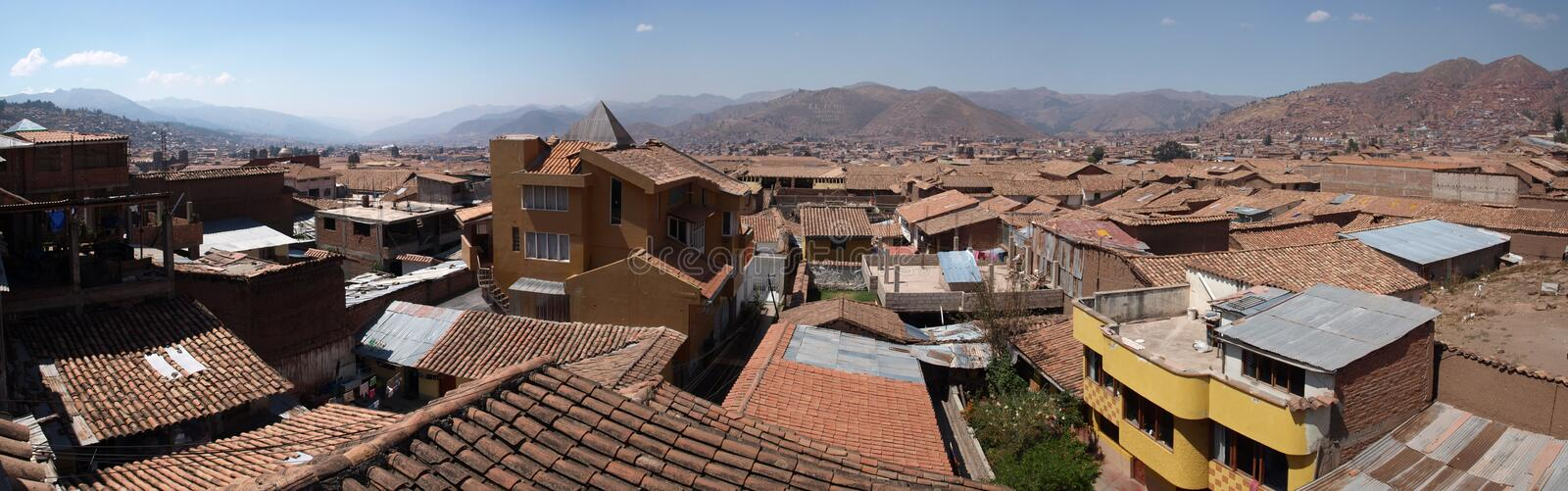 Cuzco. Stitched Panorama - Cuzco Peru South America royalty free stock images