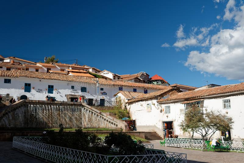 Cuzco - a capital anterior do império 17 do Inca foto de stock royalty free