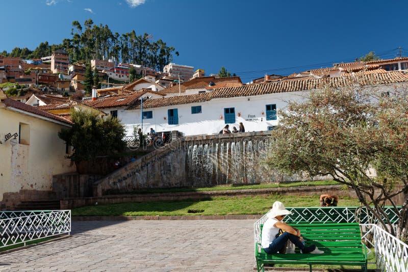 Cuzco - a capital anterior do império 10 do Inca imagens de stock