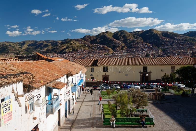 Cuzco - a capital anterior do império 13 do Inca fotos de stock