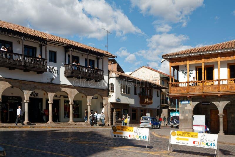 Cuzco - a capital anterior do império 16 do Inca fotografia de stock royalty free