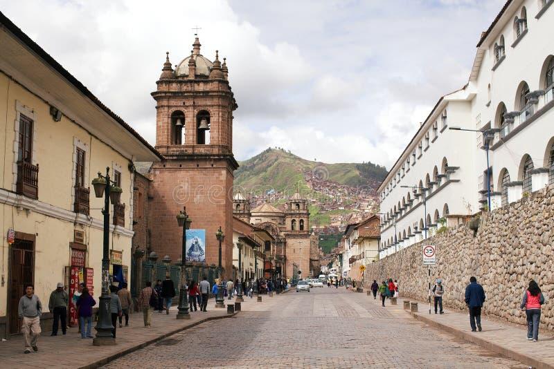 Cuzco centrum arkivbilder