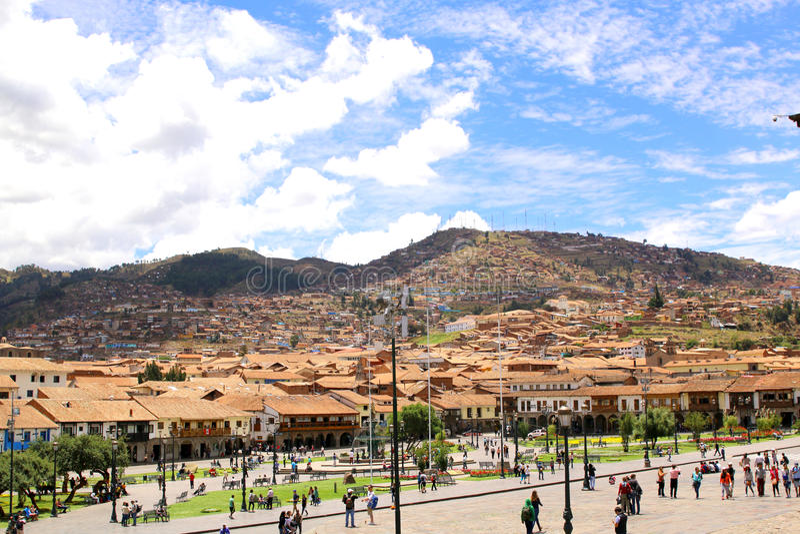 Cuzco główny plac Plaza De armas obrazy stock