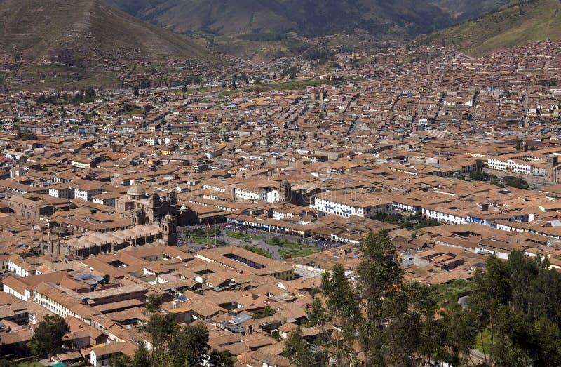 Cuzco - il Perù - mostrare la plaza de Armas fotografia stock