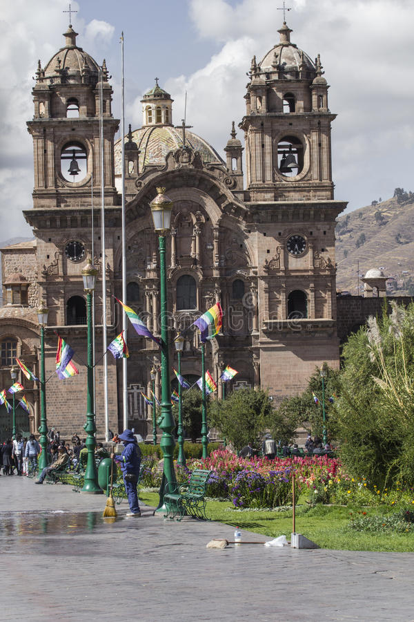 CUZCO, PÉROU 8 MARS 2016 : Vue de Plaza De Armas dans Cusco, par photo stock