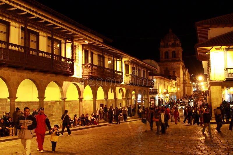 CUZCO IN PERU stock foto