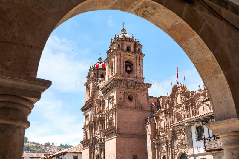 Cuzco in Peru stockfotos