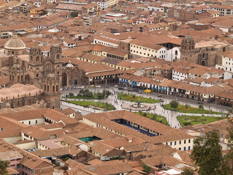 Download Cuzco, Plaza de Armas stock image. Image of homes, peruvian - 3214573