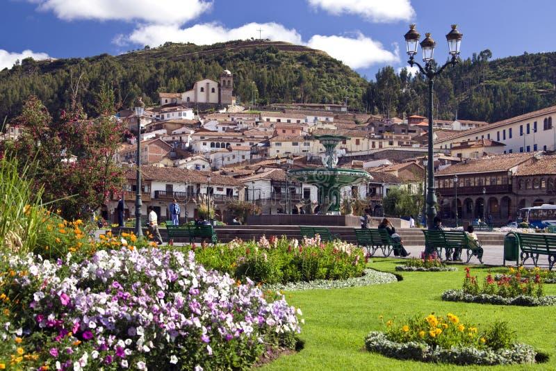 Cuzco - Plaza de Armas - Peru fotografia de stock