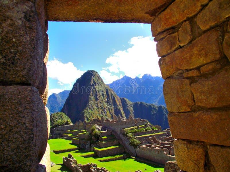 Cuzco stone portal stock photos