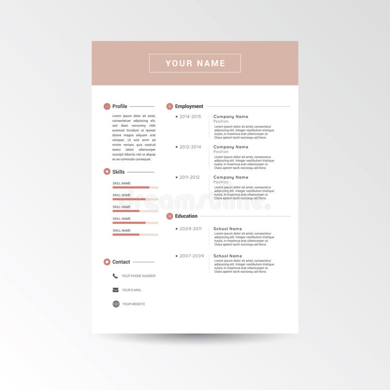 Cv, życiorysu szablon/ royalty ilustracja