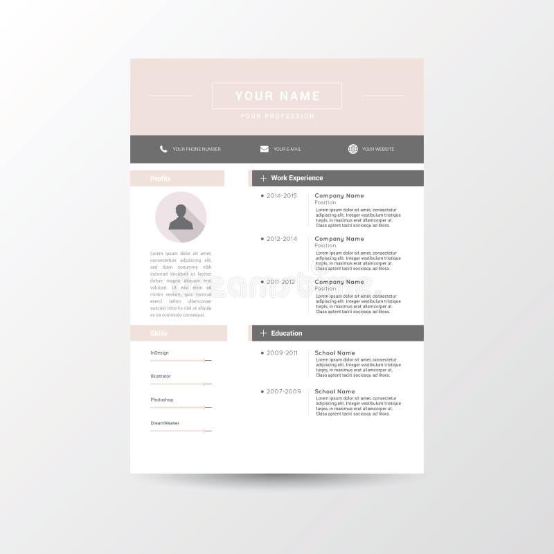 Cv, życiorysu szablon/ ilustracja wektor
