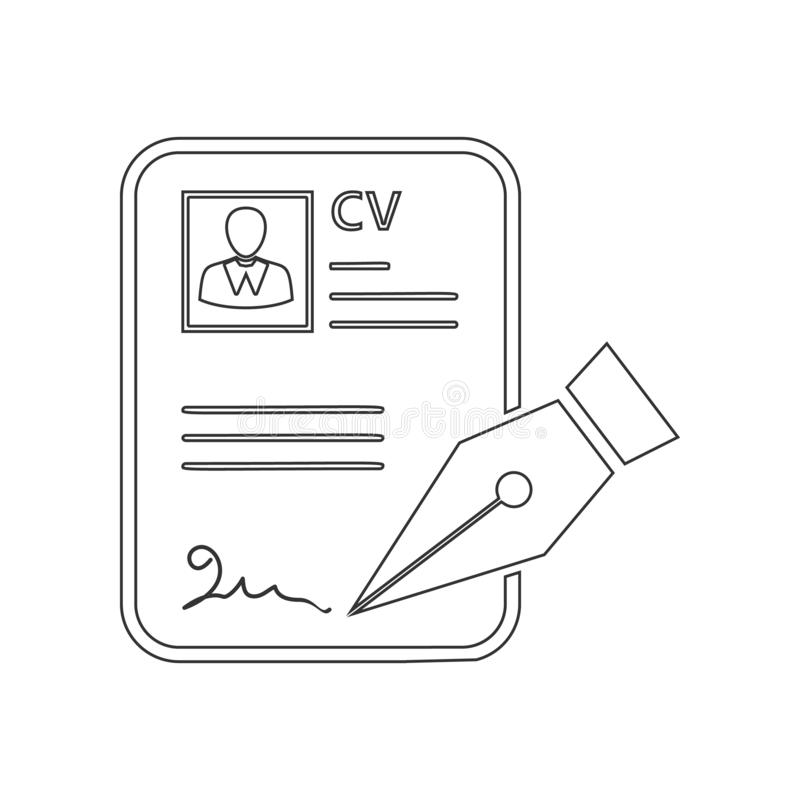 CV approvevent icon. Element of HR for mobile concept and web apps icon. Outline, thin line icon for website design and vector illustration