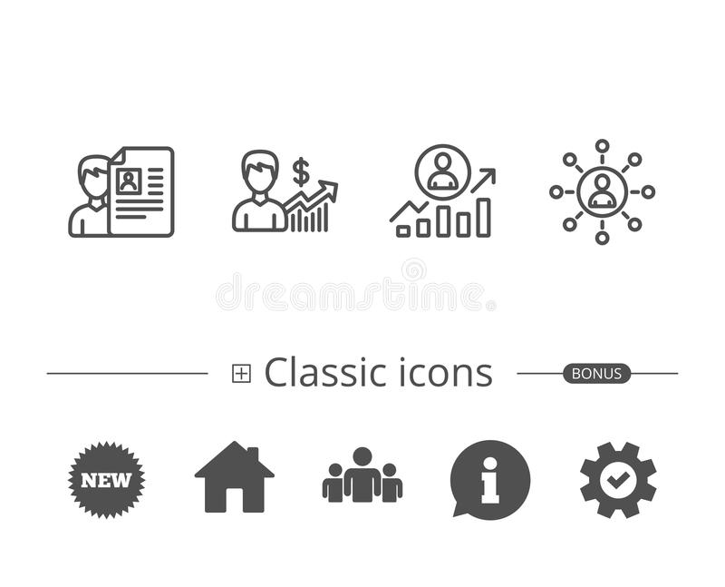 download cv business networking and get a job icons stock vector illustration of