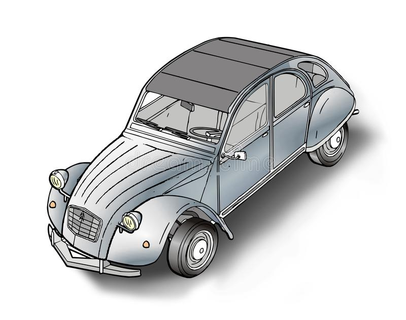 2 cv Citroën royalty-vrije stock afbeeldingen