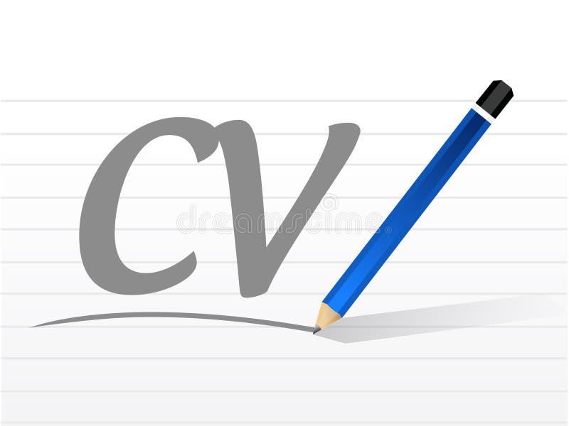 Cv, Concepto De La Muestra Del Mensaje Del Curriculum Vitae Stock de ...