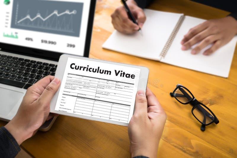CV - Curriculum Vitae (Job Interview Concept With Business CV Re ...